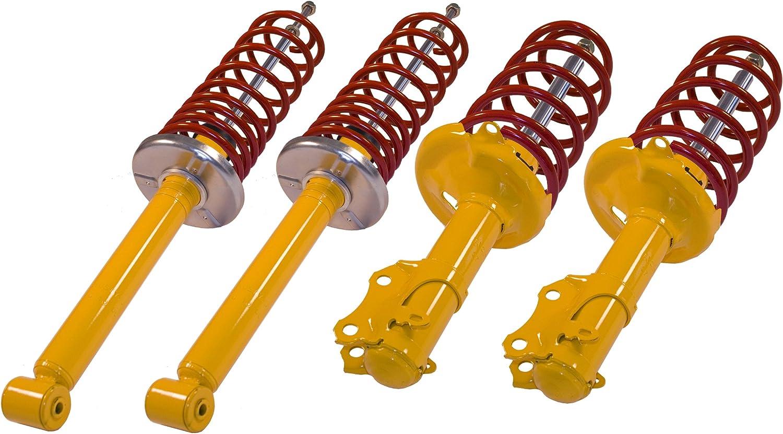 Kit suspensión amortiguadores + muelles de suspensión en -40mm/-40mm para Volkswagen Golf 4, Audi A38L de 1996a 2003, Seat Leon 1M de 1999a 2005, excepto 4Wd y Break