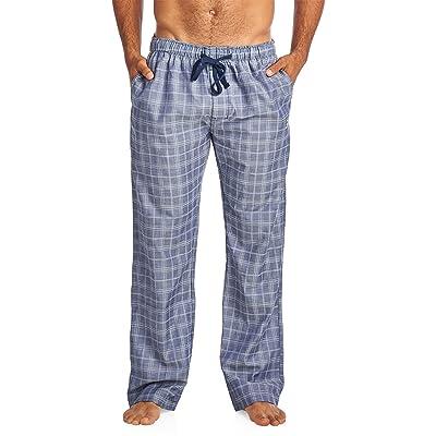 Balanced Tech Men's Woven Sleep Lounge Pajama Pants - Indigo/Grey - Small at Amazon Men's Clothing store