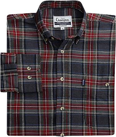 Walker and Hawkes Cranbrook - Camisa de Manga Larga para Hombre - 100 % superalgodón - Estilo leñador - Tartán: Amazon.es: Ropa y accesorios