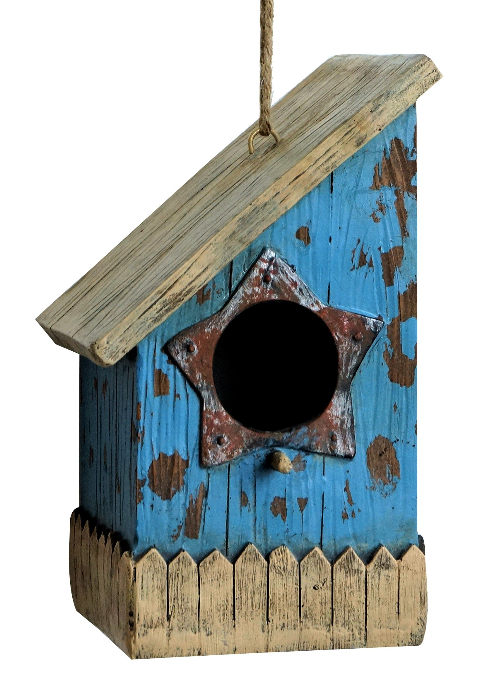 Harmony Fountains The Prairie House 9'' Birdhouse - Rustic Bird House. HF-BH-001