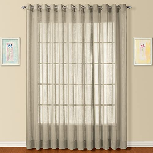 American Curtain and Home Fargo Window Curtain, 50-Inch by 84-Inch, Taupe