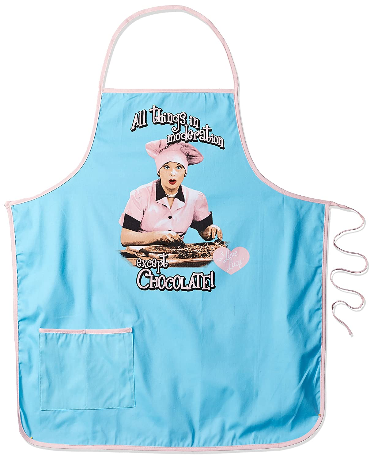 Spoontiques I Love Lucy Apron, Blue
