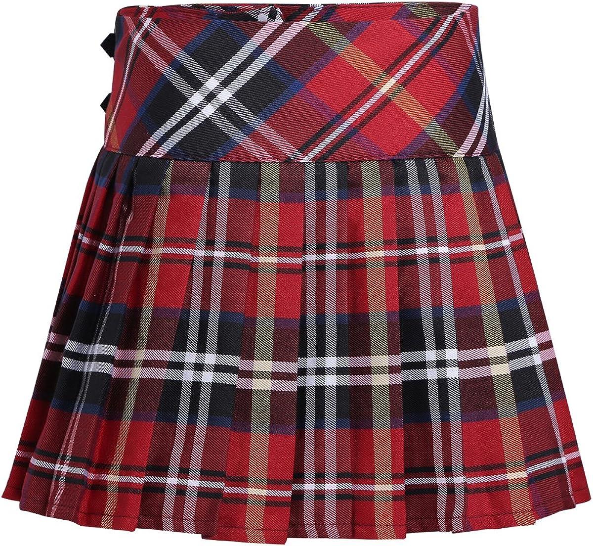 Agoky Falda Niña Ropa Verano Escocesas Cuadros Escocia Falda ...