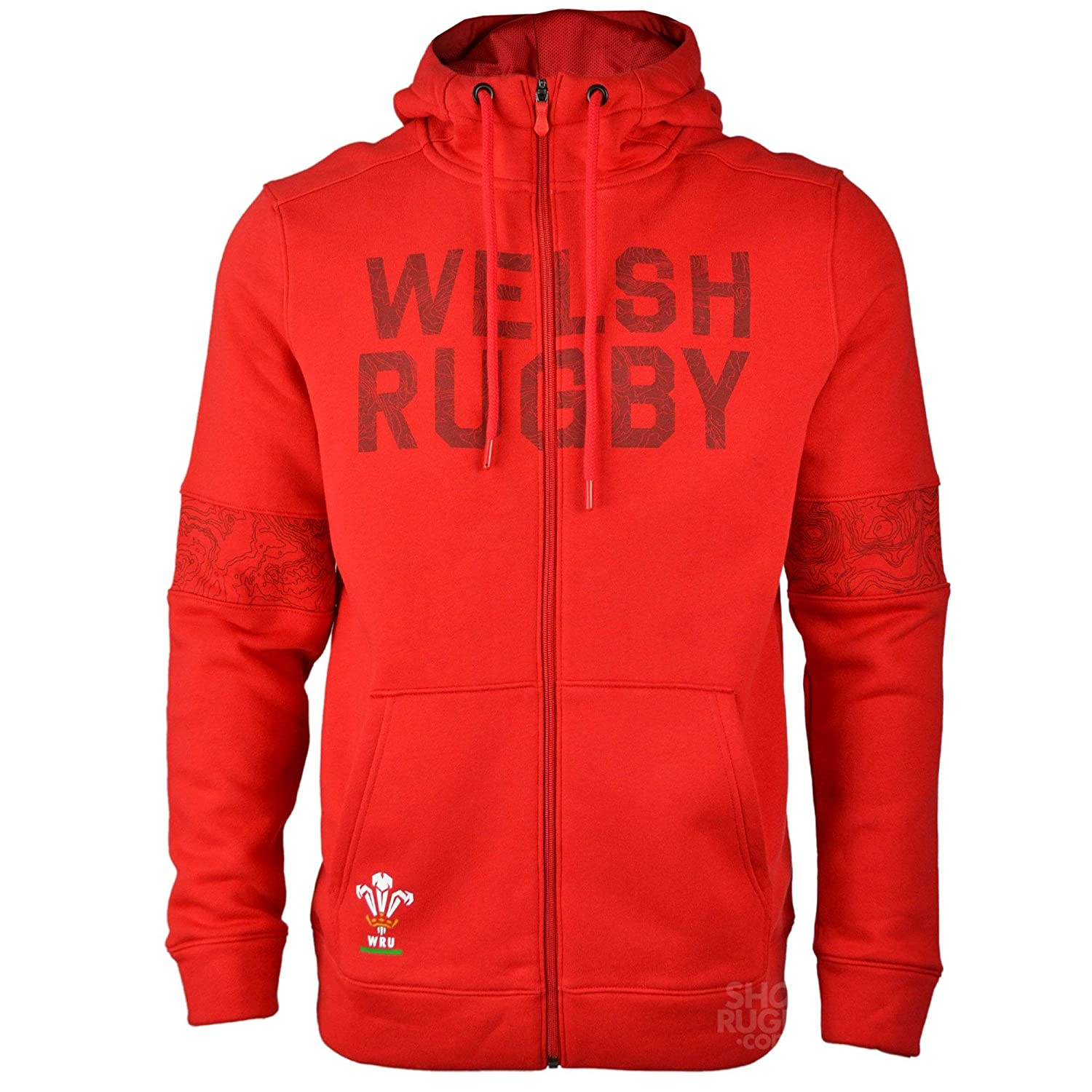 eb06e055c97 Under Armour Wales WRU Full Zip Hoodie 2018-2019 - Red: Amazon.co.uk:  Sports & Outdoors
