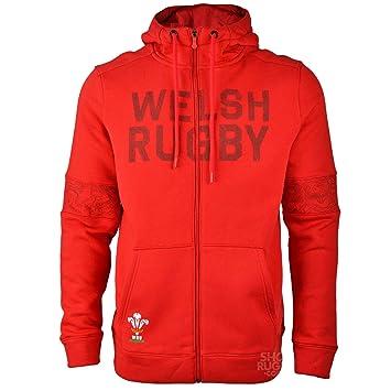 46b000dc6c317 Under Armour Wales WRU zippée à Capuche pour 2018–2019 – Rouge, Homme,