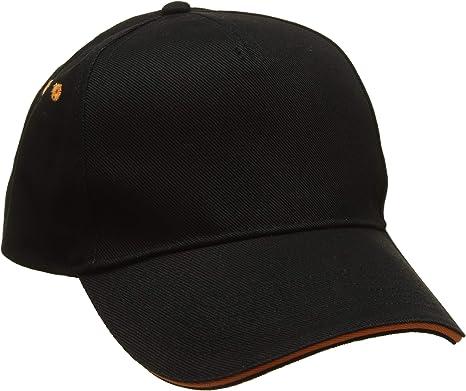 Beechfield Unisexs B015CBLK-FUS Ultimate 5-Panel Sandwich Peak Cap Black One Size