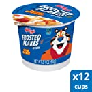 Kellogg's Frosted Flakes Cereal in a Cup - Sweet Breakfast that Lets Your Great Out, Fat-Free, Single Serve (Pack of 12, 2.1 Oz Cups)