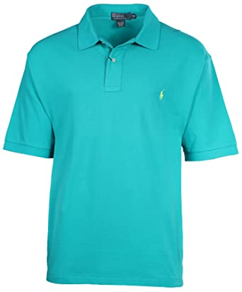 Polo Ralph Lauren Mens Big & Tall Classic Fit Mesh Short Sleeve Shirt Pool  Green (
