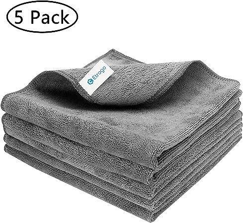 Cabilock 2Pcs Mano A Secco Asciugamano in Microfibra di Corallo del Panno Morbido Asciugamani Piccola Rotonda Acqua del Bagno Assorbente Asciugamano Pulire per Cucina Bagno