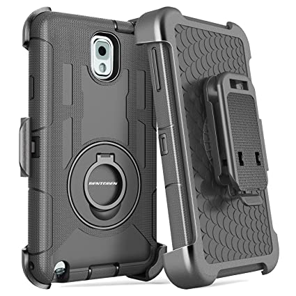BENTOBEN Samsung Galaxy Note 3 Shockproof Hard Case Cover with Swivel Kickstand Belt Clip Holster Protective Case for Samsung Galaxy Note 3 Note III ...