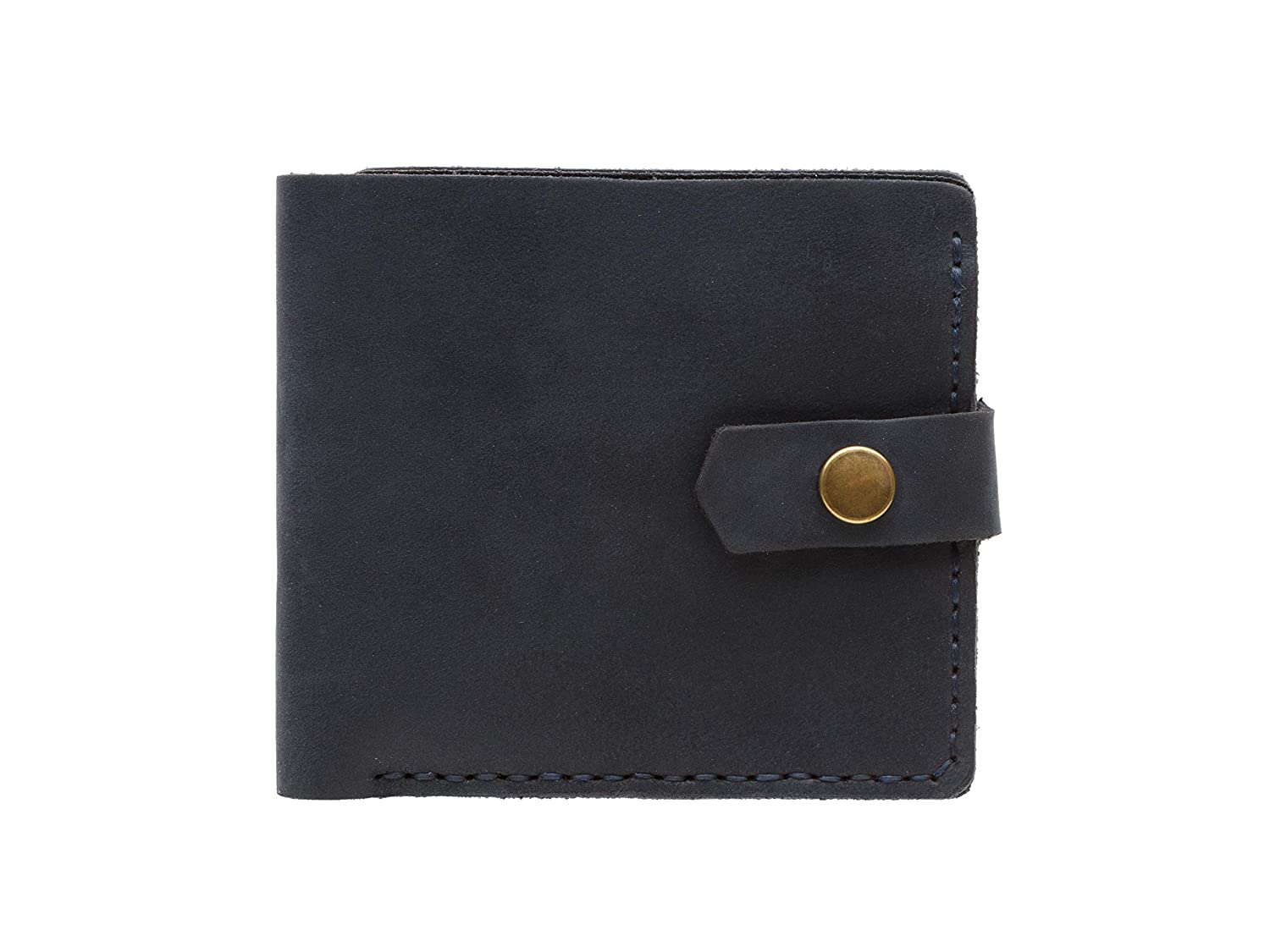 Cantoneri Bifold Womens Leather Wallet Full Grain Crazy Horse Leather 6 Compartments