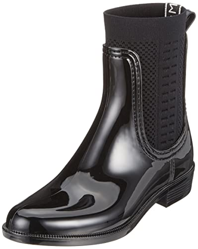 3250f631e5a302 Tommy Hilfiger Women  s Knit Rain Boot Wellington  Amazon.co.uk ...