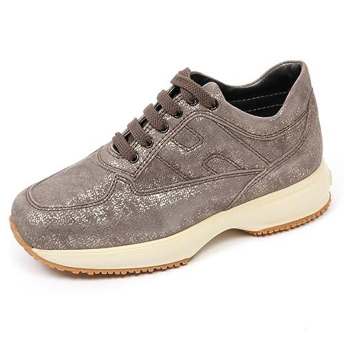 C9264 sneaker bimba HOGAN JUNIOR INTERACTIVE scarpa tortora shoe kid   Amazon.it  Scarpe e borse 00cf78e54c8
