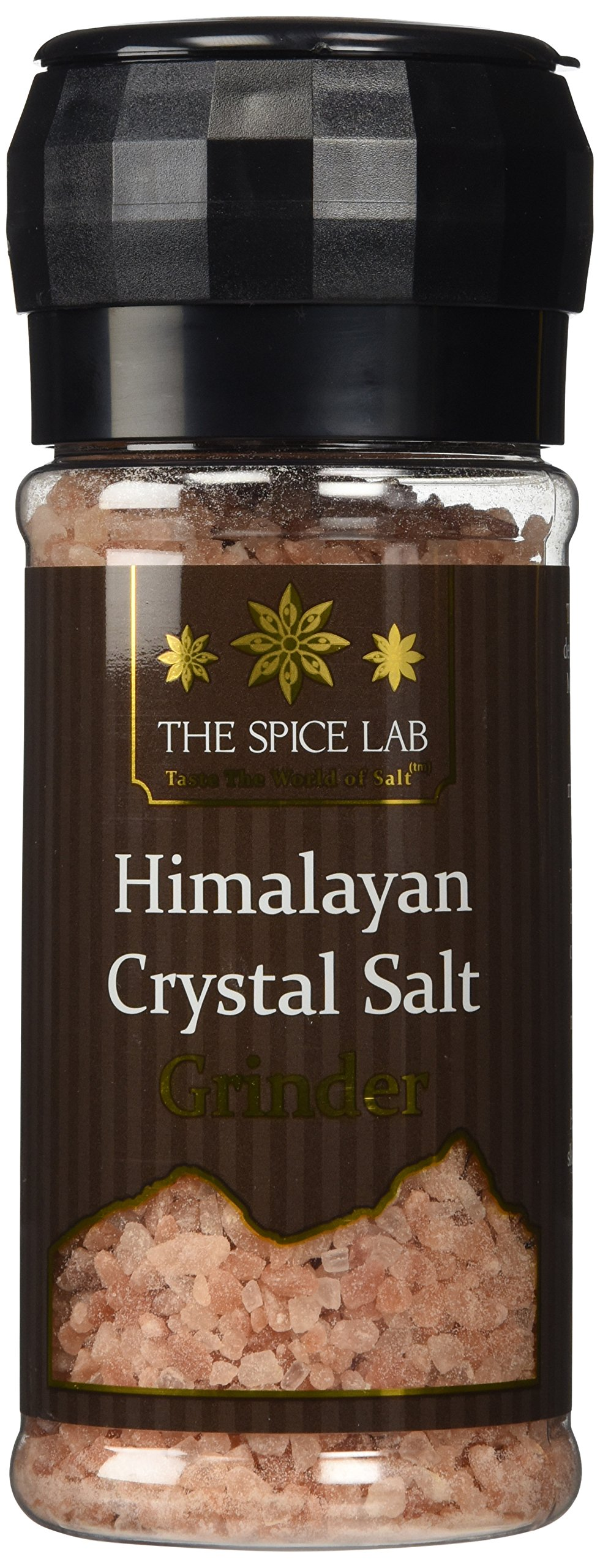 The Spice Lab Pink Himalayan Salt - 1lb. Salt Grinder - Coarse Gourmet Pure Crystal - Nutrient and Mineral Fortified for Health - Kosher and Natural Certified