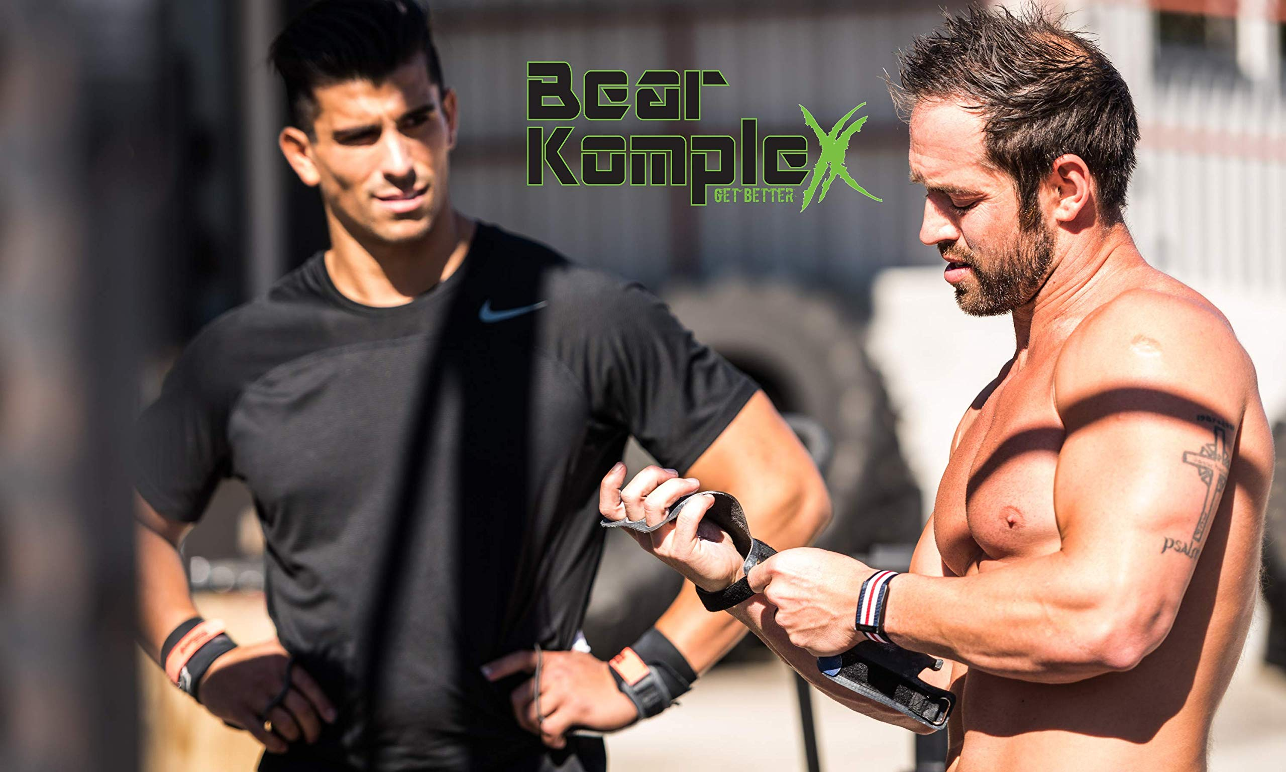 b95d773380dfa Bear KompleX 3 Hole Leather Hand Grips for Gymnastics&Crossfit,Pull ...