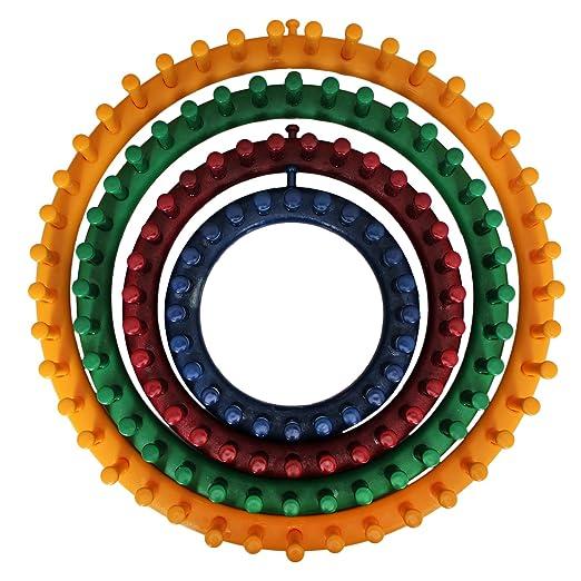 37 opinioni per Set da 4 Telai Circolari in Plastica da Curtzy – 4 Formati:14 cm, 19 cm, 24 cm,