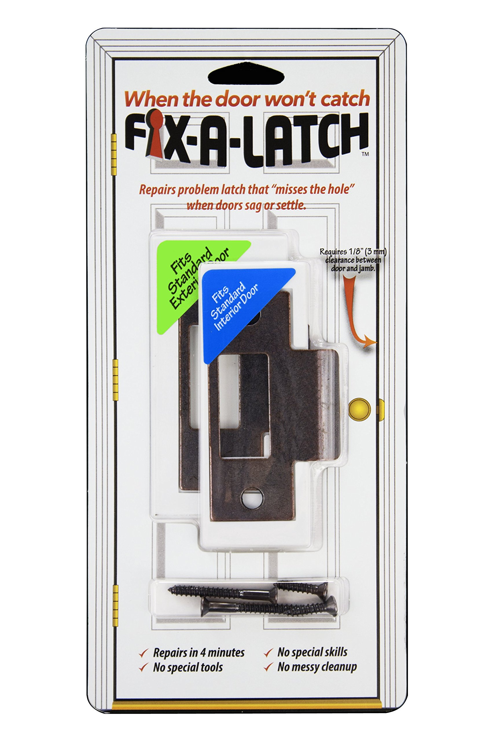 Fix-A-Latch Mixed 2-Pack with Bronze Finish by Fix-A-Latch