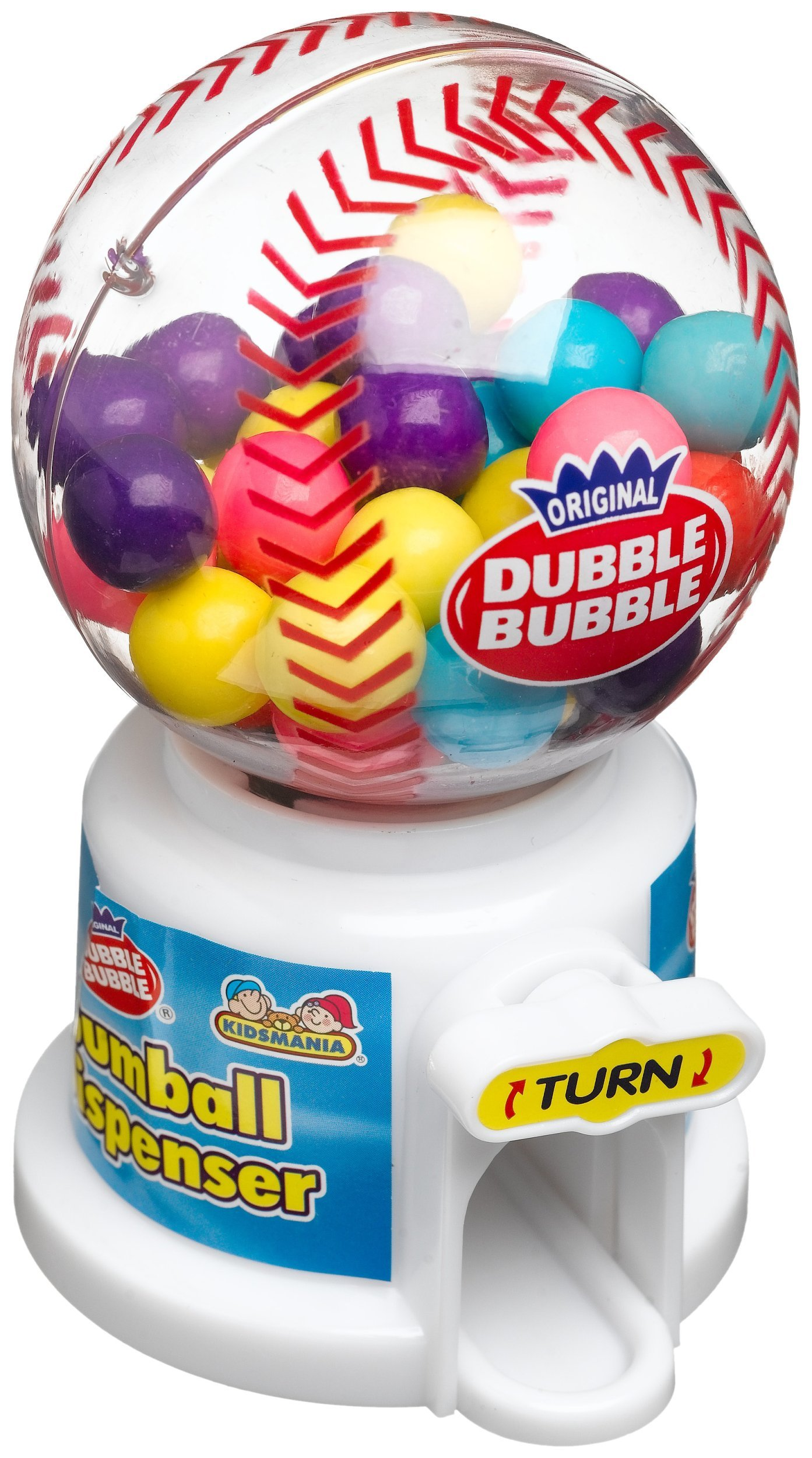Kidsmania Dubble Bubble Assorted Hot Sports Gum Ball Dispenser, 1.4-Ounce Candy-Filled Dispensers (Pack of 12) by Kidsmania