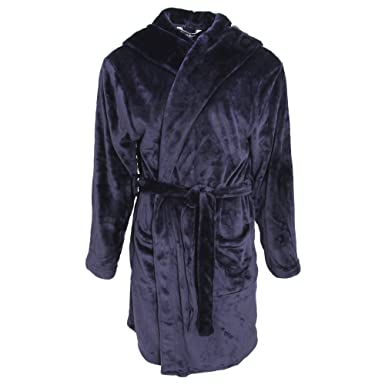 Amazon.com: Pierre Roche Mens Hooded Super Soft Dressing Gown: Clothing