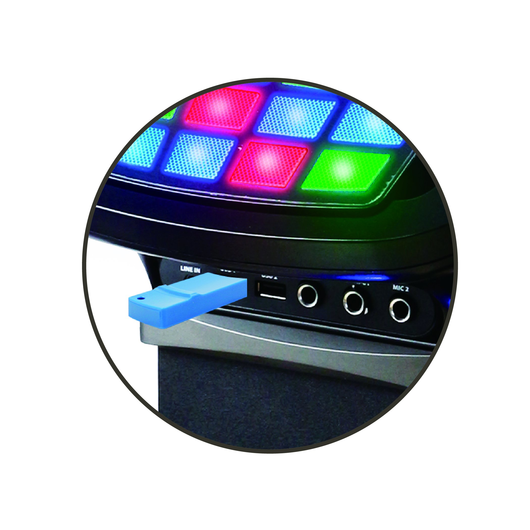 Akai KS878-BT Bluetooth Pedestal CD&G Karaoke System, Black by Akai (Image #5)