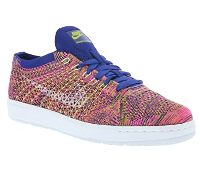 sneakers for cheap 51a89 45051 NIKE Women s WMNS Tennis Classic Ultra Flyknit, DEEP Royal Blue White-Pink  Blast