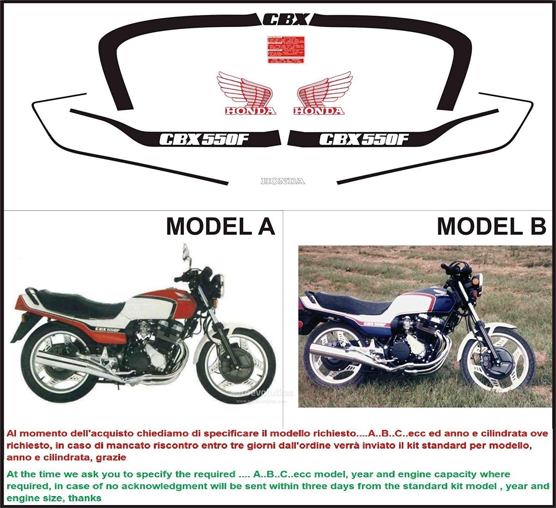 INDICARE IL MODELLO A o B Kit adesivi decal stickers HONDA CBX 550 F 1981