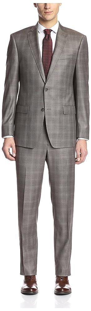 1960s Men's Fashion Suits Franklin Tailored Mens Tonal Windowpane Suit $261.72 AT vintagedancer.com