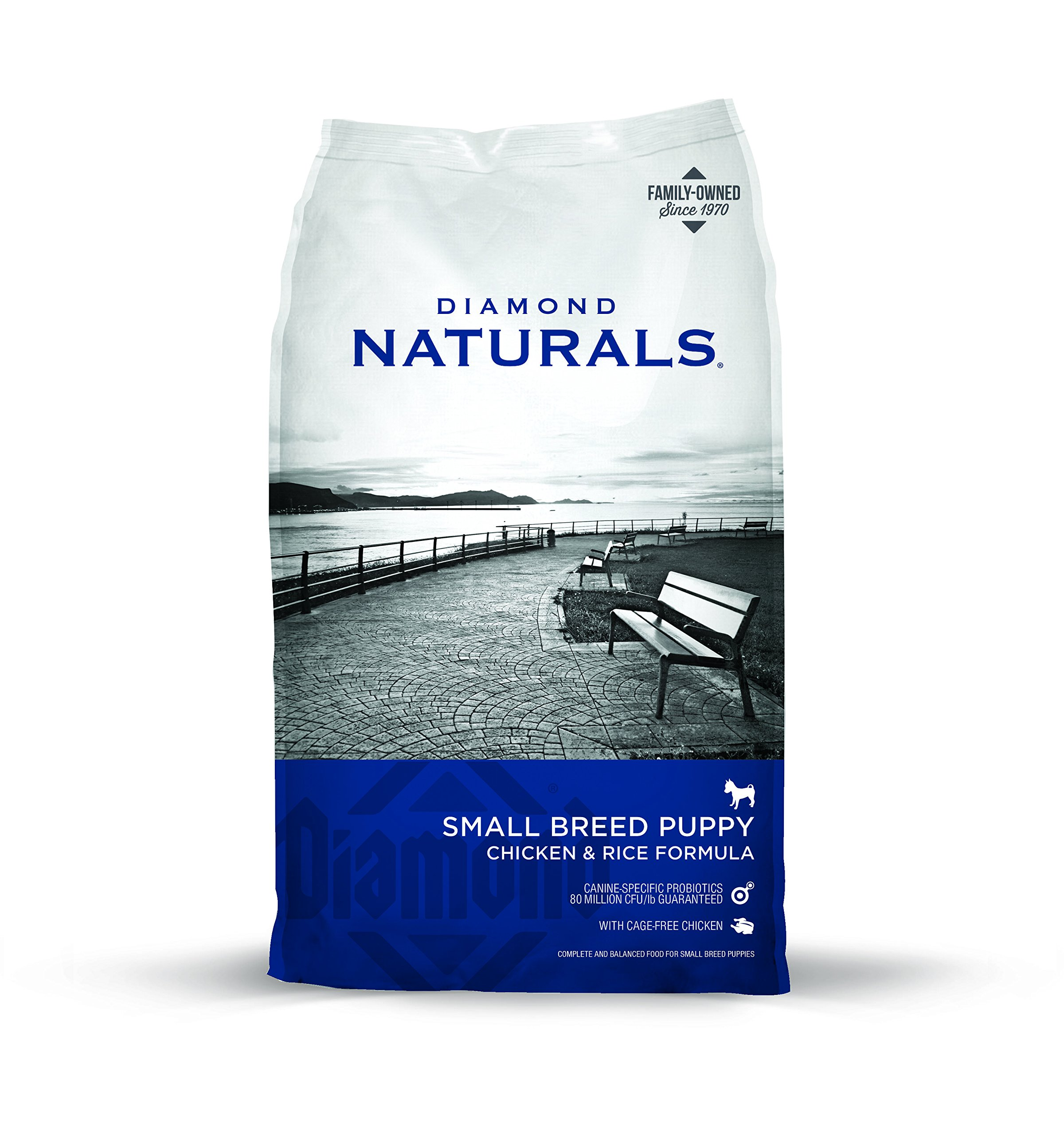Diamond Naturals Small Breed Puppy Real Meat Recipe Dry Dog Food with Natural Ingredients and Real Cage Free Chicken