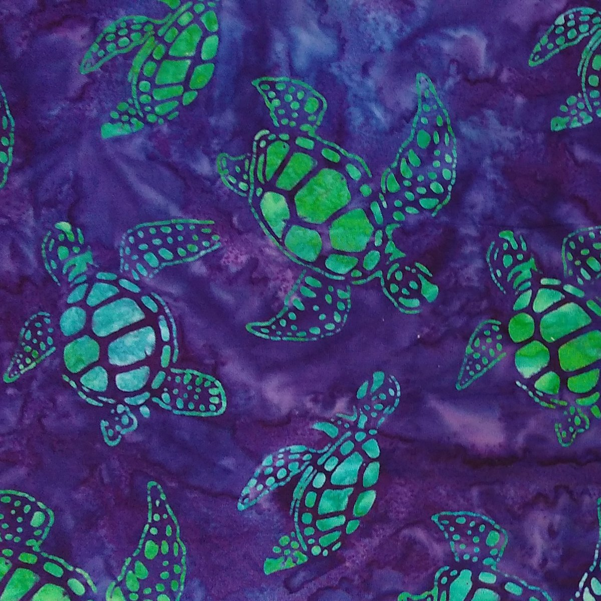 Lumbar Pac - Hot Or Cold Pack for Lower Back - Batik Turtle Fabric