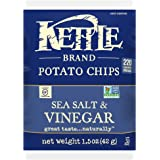 Kettle Brand Potato Chips, Sea Salt and Vinegar, 1.5-Ounce Bags (Pack of 24)