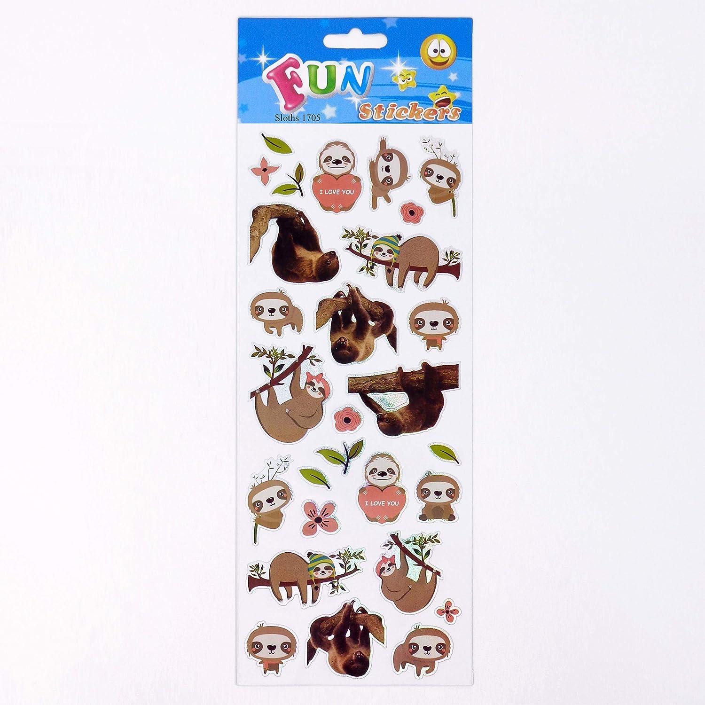 Fun Stickers Sloths 1705