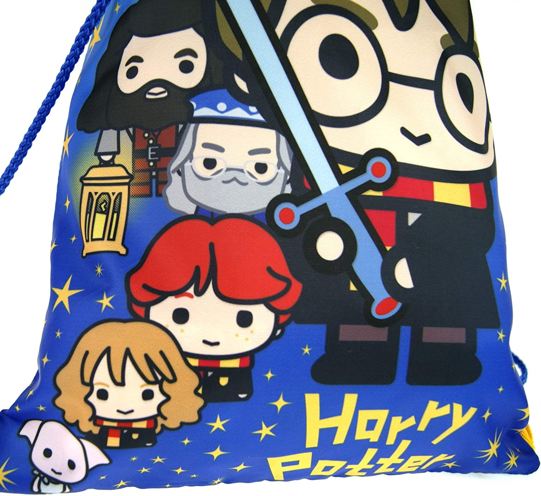Harry Potter estilo de dibujos animados para ni/ños Bolsa de gimnasio con cord/ón