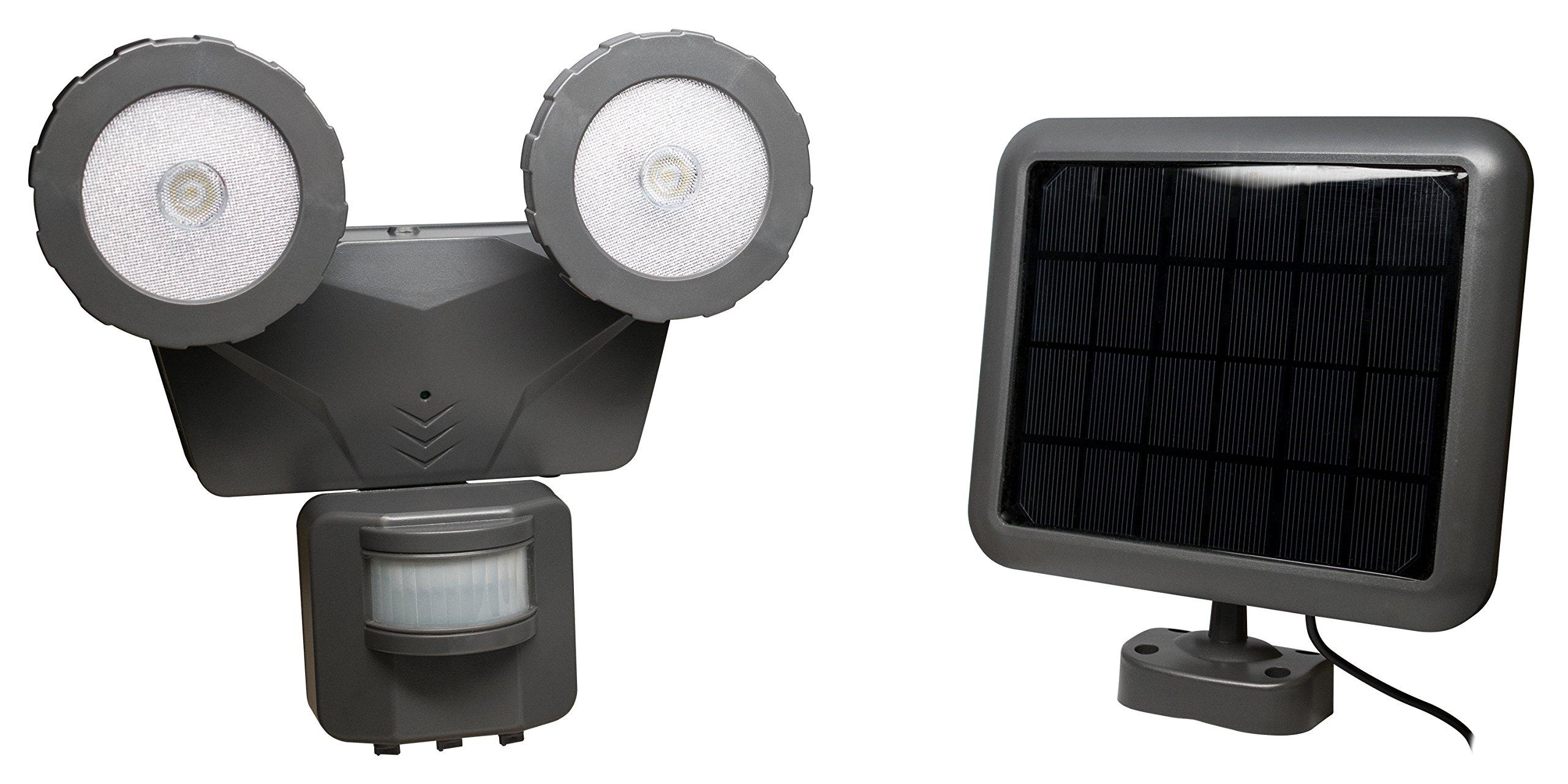 Novolink NL-DSG2 160° Outdoor 500 lm Solar LED Motion Activated Light, Dark Grey by Novolink