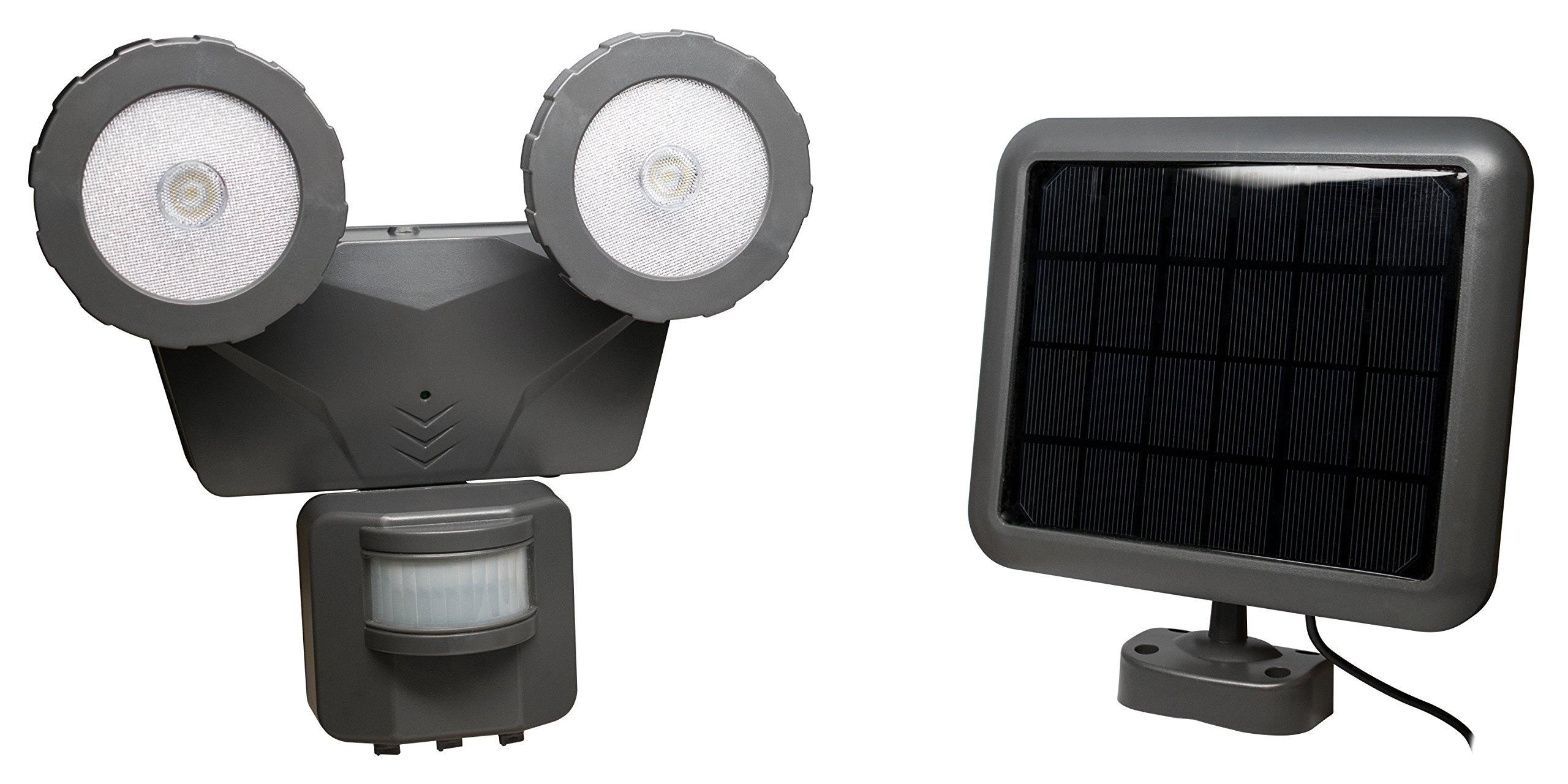 Novolink NL-DSG2 160° Outdoor 500 lm Solar LED Motion Activated Light, Dark Grey