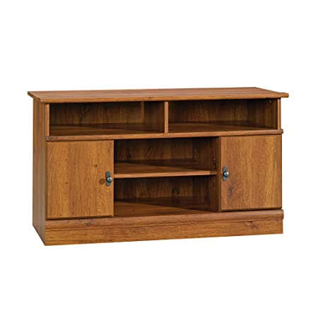 Sauder 407432 Harvest Mill Panel Tv Stand, For TV s up to 42 , Abbey Oak finish