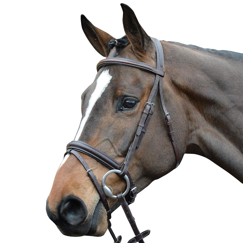 Collegiate Comfort Crown Padded Raised Flash Snaffle Bridle Pony Brown