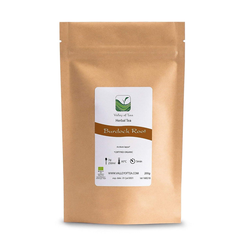 T/ónico purificante Burdock T/é de Hierbas 100g Arctium Raiz Organico de Bardana