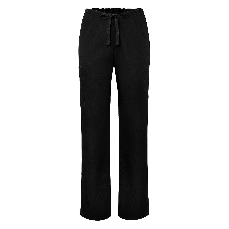 4280bda4289 Amazon.com: Adar Universal Unisex Natural-Rise Drawstring Tapered Leg Scrub  Pants: Clothing