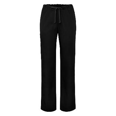 ca2c2ccda89 Adar Universal Unisex Natural-Rise Drawstring Tapered Leg Pants - 504 -  Black - 4X