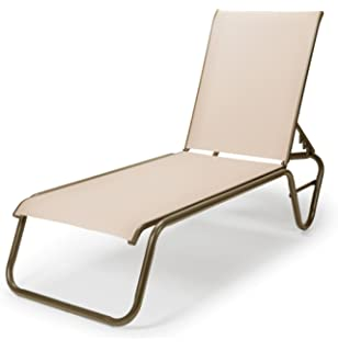 telescope casual furniture gardenella sling collection layflat stacking aluminum armless chaise - Telescope Casual Furniture