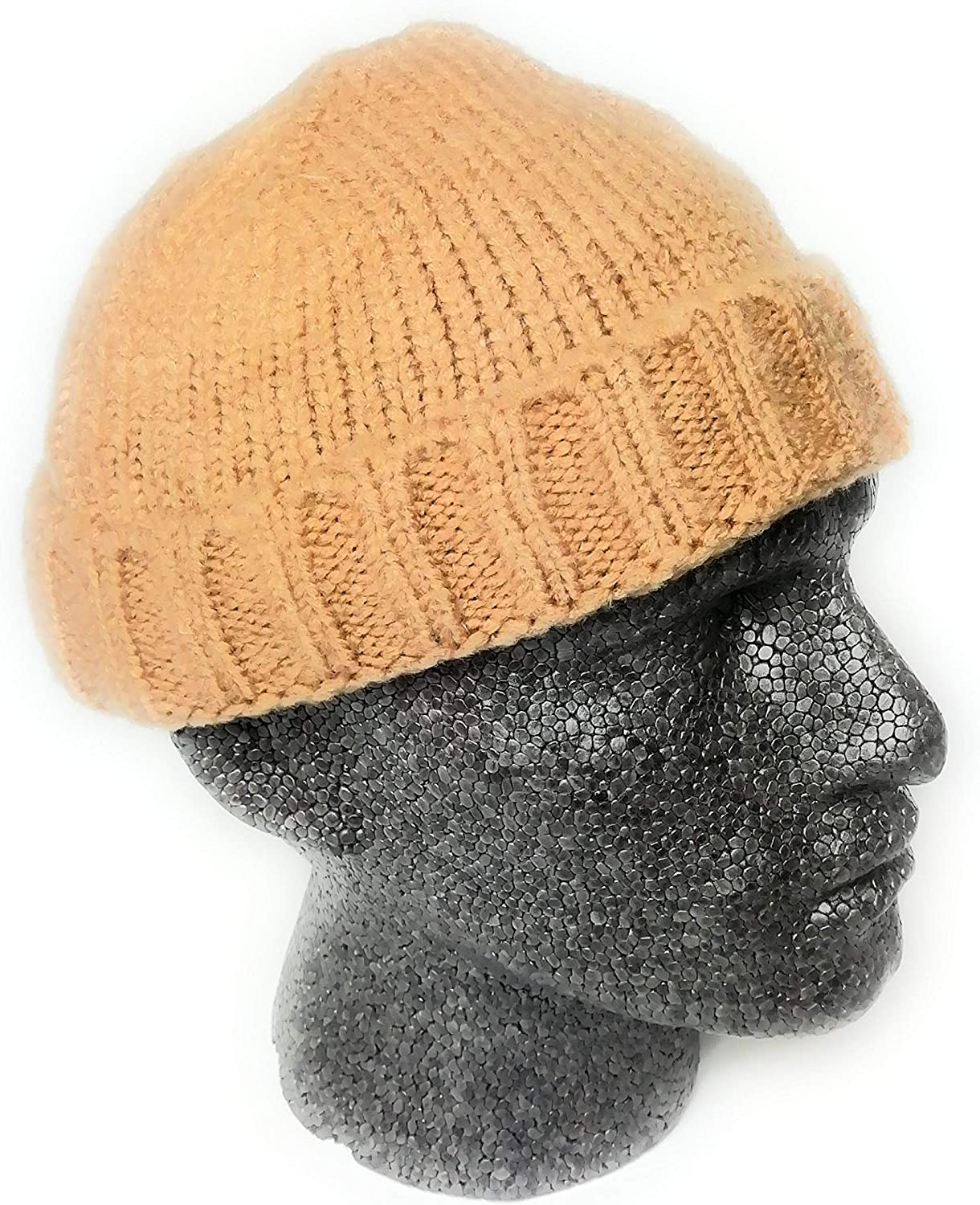 Rust Wigwam Knitted fisherman trawler Skully beanie Hat Vintage style mens womans Hipster beanie hat