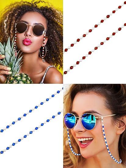 8 Stilen 8 St/ücke Brillen Ketten Perlen Sonnenbrillen Gurt Halter Elegante Brillenhalter Kette