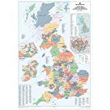 Counties UK Wall Map (Laminated)