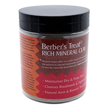 Rich Mineral Clay Mask for Oily Skin, Clogged Pores, Acne and Eczema Treatment -