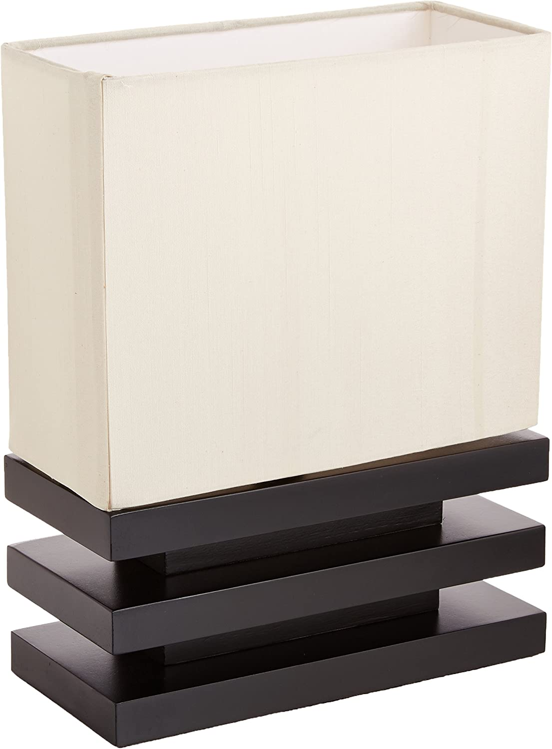 Coaster Home Furnishings 900167 Coaster Black Wood Table Lamp with Beige Fabric Shade
