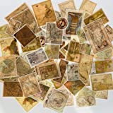 60pcs Scrapbook Stickers Game Map Stickers, Doraking DIY Decorative Map Stickers for Laptop,Envelop,Scrapbook, Game Map (Magic Map, 60PCS/Pack)