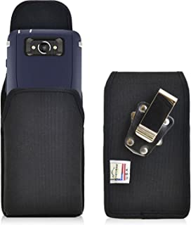 product image for Turtleback Belt Clip Case Compatible with Motorola Droid Turbo Black Vertical Holster Nylon Pouch with Heavy Duty Rotating Belt Clip Made in USA