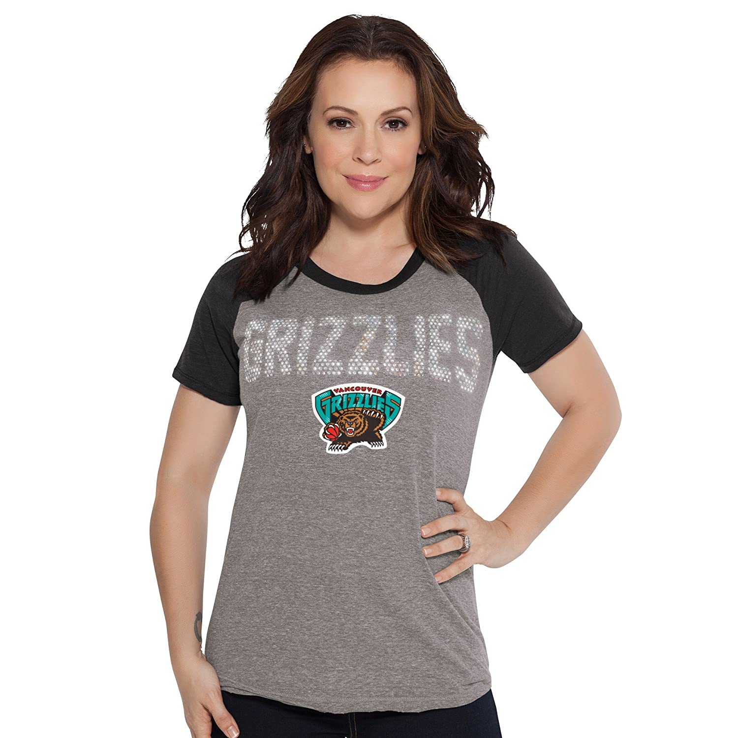 Heather Grey Small Touch by Alyssa Milano NBA Vancouver Grizzlies Conference Tee