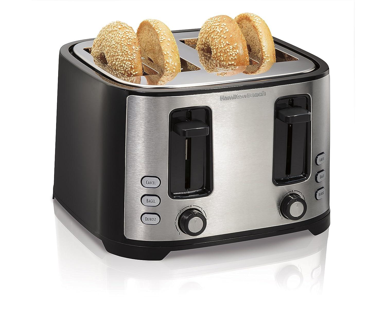 Hamilton Beach Extra-Wide 4-Slice Slot Toaster, Black (24633)