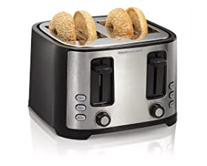 Hamilton Beach Extra-Wide 4-Slice Slot Toaster, Black (24633)